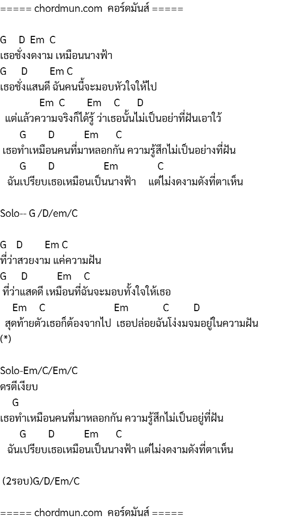 คอร์ดกีตาร์ ง่าย คอร์ดกีต้าร์มือใหม่ เพลง อีกด้านของนางฟ้า(Demo)