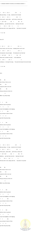 คอร์ดกีต้าร์ไฟฟ้า  เพลง tiny dancer