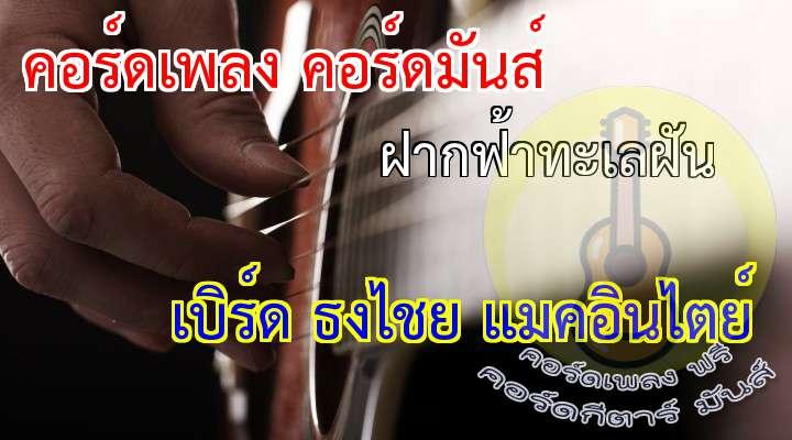 (ดนตรี)  (4 รอบ)         * มีเพียงหาดทรายทะเลสายลม กับสองเรา  ยินเพียงแผ่วเบา ยินเพียงเสียงคลื่นกับเสียงเรา                                                        นกน้อย บินมาคู่กัน เคียงกัน เหมือนดังใจมันผูกพัน (ไม่ต่างกับเรา)   (ดนตรี)  (4 รอบ)   มองไปสุดตา สุดไกลสายตาจรดฟ้าคราม  มองดูคลื่นงาม เป็นฟองขาวนวลเมื่อซัดมา