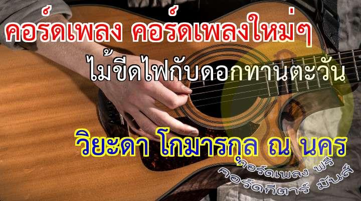 (ดนตรี)  เจ้าไม้ขีดไฟ ก้านน้อยเดียวดาย แอบรักดอกทานตะวัน  แรกแย้มยามบาน อวดแสงตะวัน ช่างงดงามเกินจะเอ่ย  ดอกเหลืองอำพัน ไม่หันมามอง แม้เหลียวมา ยังไม่เคย  ไม้ขีดเจ้าเอ๋ย เลยได้แต่ฝัน