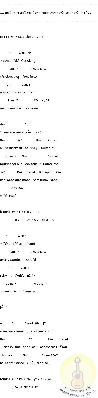 คอร์ดเพลง ง่ายๆ  เพลง รุนแรงเหลือเกิน (ไมโคร)